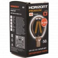 Лампа светодиодная «Horizont» LED-F, G45, 4W, 4000K, E14.