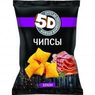 Чипсы пшеничные «5D» со вкусом бекона, 85 г.