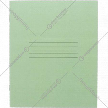 Тетрадь зелёная, клетка 12 листов.