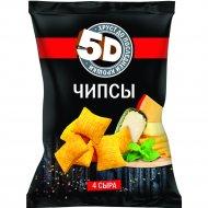 Чипсы пшеничные «5D» со вкусом 4 сыра, 85 г.