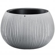 Горшок «Prosperplast» пластиковый Beton Bowl 290, серый бетон