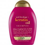 Шампунь против ломкости волос «OGX» с кератиновым маслом, 385 мл
