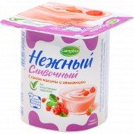 Продукт йогуртный «Нежный» сливочный с малиной и земляникой, 5%, 100 г.