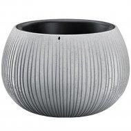 Горшок «Prosperplast» пластиковый Beton Bowl 480, серый бетон