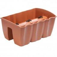 Горшок «Prosperplast» пластиковый Crown 400, терракотовый