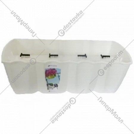 Горшок «Prosperplast» пластиковый Crown 600, белый