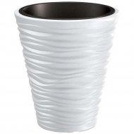 Горшок «Prosperplast» пластиковый Sand 400, белый