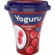 Коктейль творожный «Yoguru» малина, чиа, 2.9 %, 230 г.