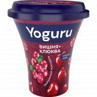 Коктейль творожный «Yoguru» вишня-клюква, 2.9 %, 230 г.