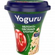 Коктейль творожный «Yoguru» яблоко-овсяные хлопья, 2.9 %, 230 г.
