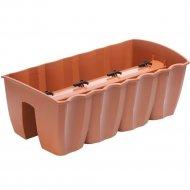 Горшок «Prosperplast» пластиковый Crown 600, терракотовый