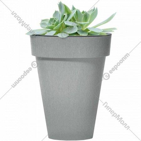 Горшок «Prosperplast» пластиковый Cube Slim Beton 355, бетон