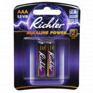 Батарейки «Richter» ААА, 1.5 V/В, 2 шт.