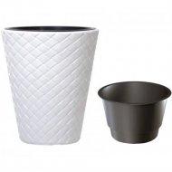 Горшок «Prosperplast» пластиковый Flower pot Matuba 400, белый