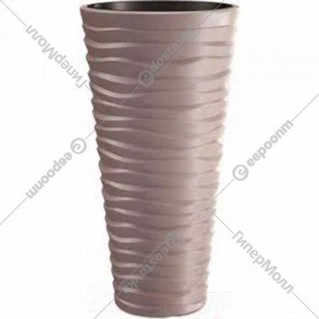 Горшок «Prosperplast» пластиковый Sand Slim, мокка