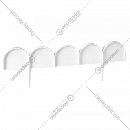 Бордюр садовый «Prosperplast» Garden Line, белый