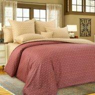 Комплект постельного белья «Моё бельё» Этюд 2, бордовый, двуспальный