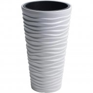 Горшок «Prosperplast» пластиковый Sand Slim 350, белый