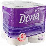 Бумага туалетная «Dona classic» двухслойная, 8 рулонов.