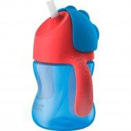 Чашка с трубочкой сине-красный, 200 мл.