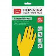 Перчатки резиновые хозяйственные, универсальные, размер XL, желтые.