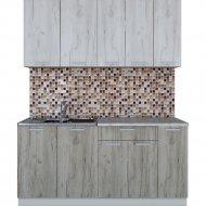 Готовая кухня «Интерлиния» Мила Лайт 1.7, дуб белый/дуб серый