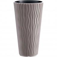 Горшок «Prosperplast» пластиковый Sandy Slim, мокка