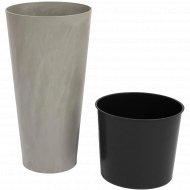 Горшок «Prosperplast» пластиковый Tubus Slim Beton 400, бетон
