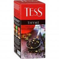 Чай черный «Tess» с чабрецом и цедрой лимона, 25 пакетиков.