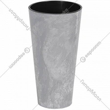 Горшок «Prosperplast» пластиковый Tubus Slim Effect 400, маренго