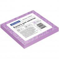 Блок для заметок с липким слоем, 75x75 мм, 100л, фиолетовый.