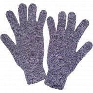 Перчатки женские серые, размер 18.