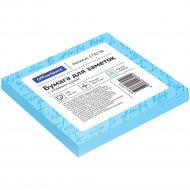 Блок для заметок с липким слоем, 75x75 мм, 100л, голубой.