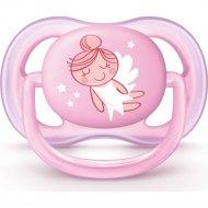 Пустышка силиконовая «Ultra Air» для девочки, 0-6 месяцев, 1 шт.