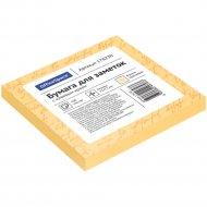 Блок для заметок с липким слоем, 75x75 мм, 100л, оранжевый.