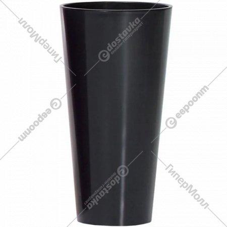 Горшок «Prosperplast» пластиковый Tubus Slim Shine 250, графит