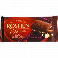 Шоколад черный «Roshen» с подсоленным миндалем, 90 г.