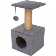 Комплекс для кошек «Cat House» джут серый, 65 см
