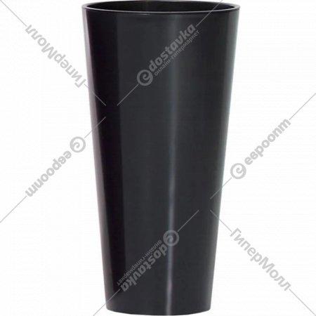 Горшок «Prosperplast» пластиковый Tubus Slim Shine 400, графит