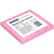 Блок для заметок с липким слоем, 75x75 мм, 100л, розовый.
