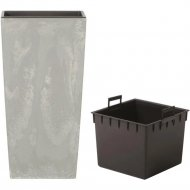 Горшок «Prosperplast» пластиковый Urbi Square Beton 225, бетон