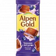 Шоколад «Alpen Gold» с чернично-йогуртовой начинкой, 90 г.