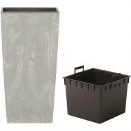 Горшок «Prosperplast» пластиковый Urbi Square Beton 400, бетон