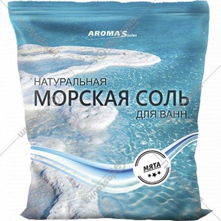 Соль морская для ванн с экстрактом мяты, 1 кг.