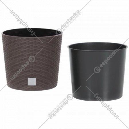 Горшок «Prosperplast» пластиковый Flower pot RatovRound – Umber