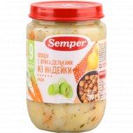 Пюре «Semper» овощи с фрикадельками из индейки, 190 г.
