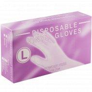 Перчатки виниловые одноразовые, размер L, 100 шт.