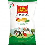 Чипсы картофельные со вкусом мяты и перца чили «San Carlo» 150 г