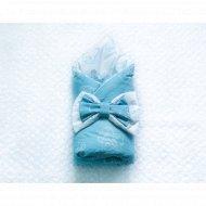 Конверт с бантом, синий, КН13-Б4.