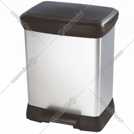 Контейнер для мусора «Curver» Deco Bin 30 л, черный/серый
